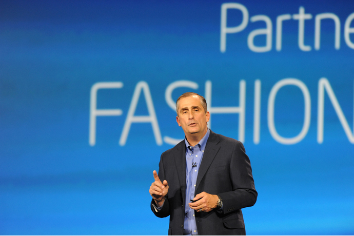 Intel CEO Brian Krzanich announced collaborations with Barneys N