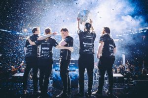 Team Ninjas in Pyjamas celebrate their victory at the Intel Extreme Masters competition on Sunday, Nov. 20, 2016, in Oakland, California. Now all eyes are on the 2017 World Championships, which kick off on Feb. 25 in Katowice Poland.