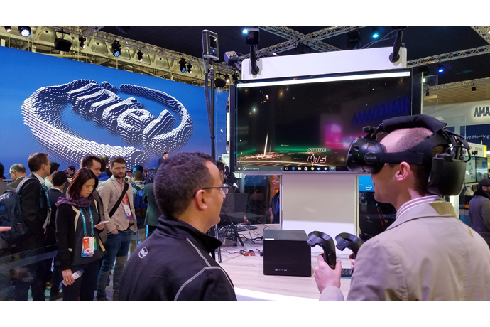 On Feb. 27, 2017, Intel Corporation showcases how the pieces of