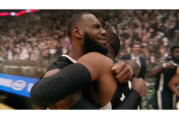 Intel's 360 Replay technology captures LeBron James' facial reac