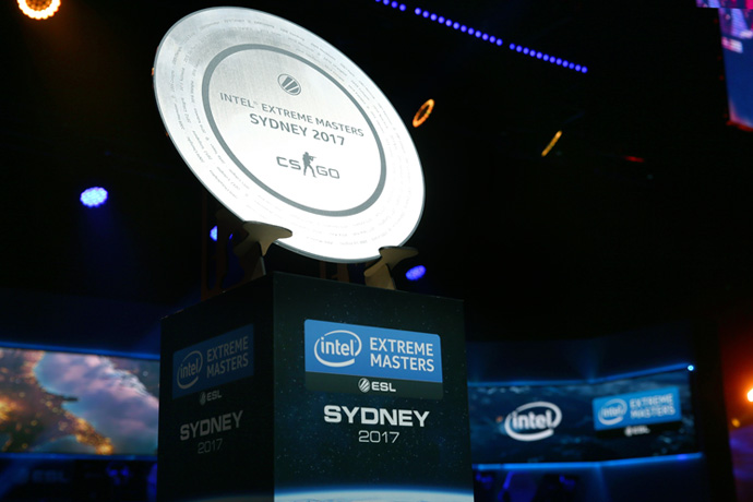 IEM Stage Presentation Trophy of Intel's Extreme Masters