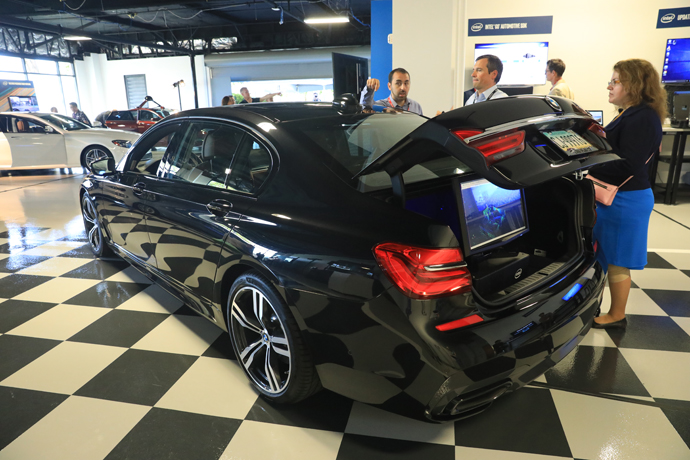 For the first time in front of press, BMW displayed one of the f