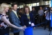 Intel's Kathy Winter (from left) Doug Davis and Patti Robb cut t