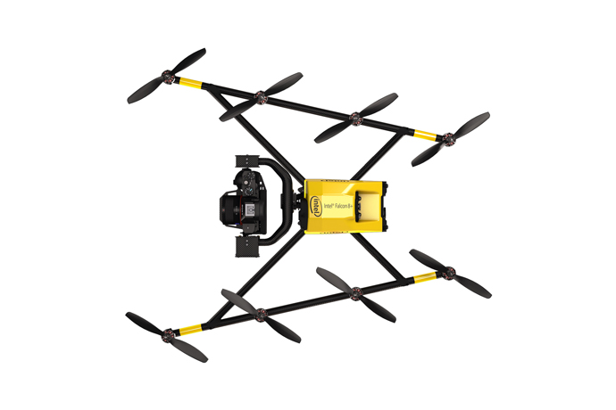The Intel Falcon 8+ drone is an advanced, unmanned aerial vehicl