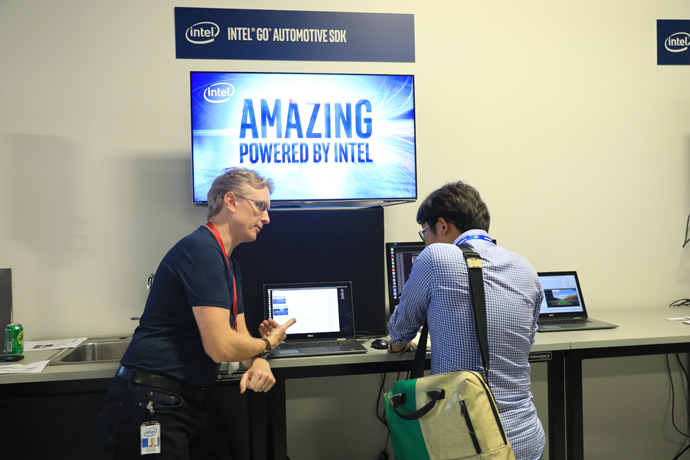 Demonstrations included the Intel Go Automotive Softwared Develo