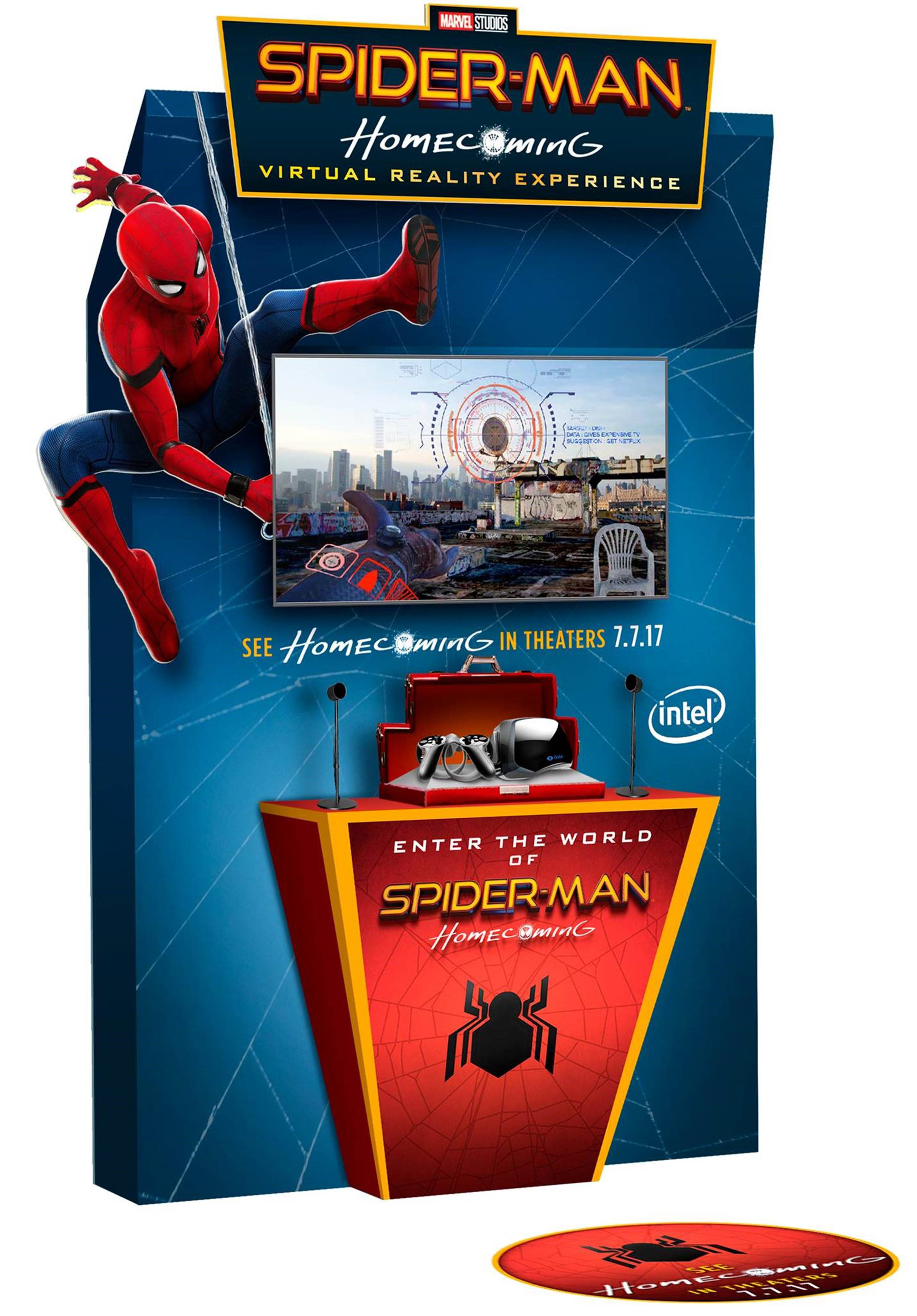 intel teams with sony pictures virtual reality to create u0027spider