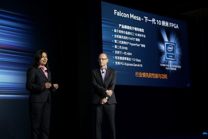 Zane Ball (right), Intel Custom Foundry vice president and gener
