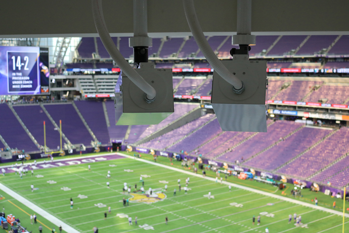 Intel True View cameras installed in Minnesota Vikings' U.S. Bank St
