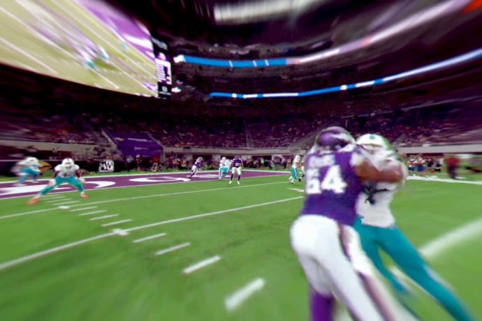 Intel freeD Offers New Views of Minnesota Vikings Touchdown (2017 NFL Preseason)
