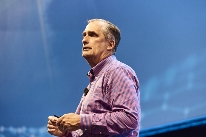 Intel CEO Brian Krzanich presented a keynote Tuesday, Nov. 7, 20