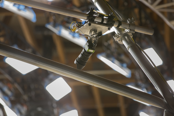 The 10,000-square-foot volumetric capture dome inside Intel Stud