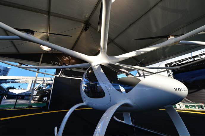 Volocopter — a fully electric, vertical takeoff and landing air