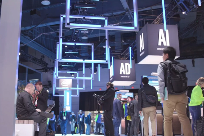 2018 CES: Highlights from Intel's Power of Data Experiences (B-roll)