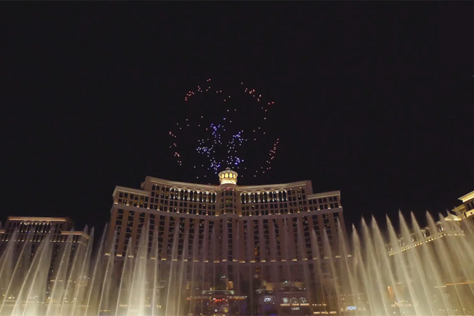 2018 CES: Intel Drone Light Show (B-roll)