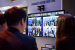Visitors to Intel's Mobile World Congress booth on Wednesday, Fe