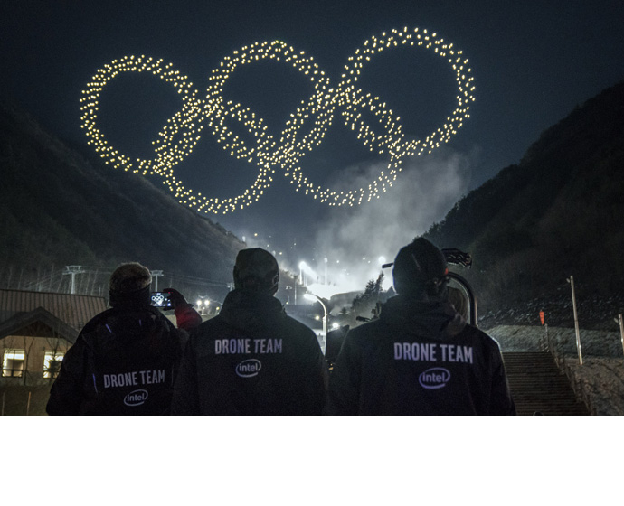 Intel 2018 Olympics Drone Ligh Show 1