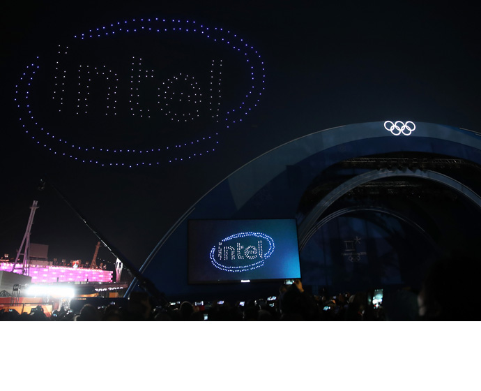 Intel Olympic Victory Ceremony Drones 1