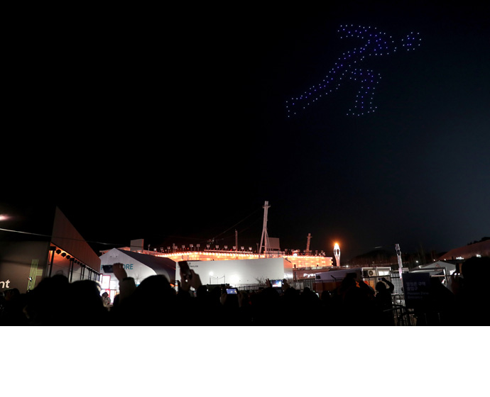 Intel Olympic Victory Ceremony Drones 4