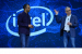 Navin Shenoy (left), Intel executive vice president in the Data