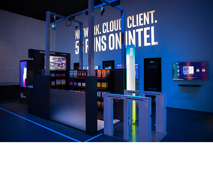 Intel MWC Booth 1 1