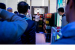 Visitors to Intel's booth at MWC 2019 on Monday, Feb. 25, 2019,