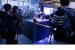 A smart industrial demo in Intel's booth at MWC 2019 on Monday,
