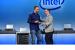 Bob Swan (right), Intel chief executive officer, greets Navin Sh