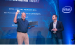 Jim Johnson (left), Intel vice president of Client Customer Engi