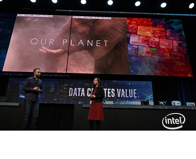Intel 2020 CES Netflix Shenoy