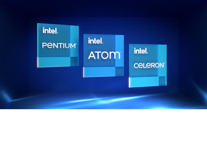 Intel Atom Pentium Celeron badges