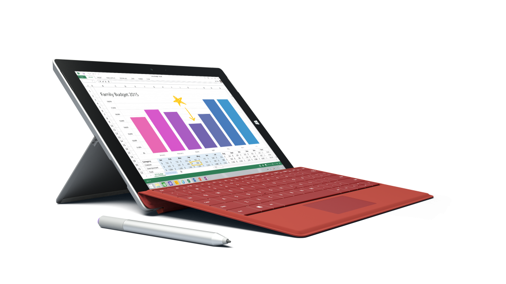 Surface 3 powered by the Intel Atom x7 processor