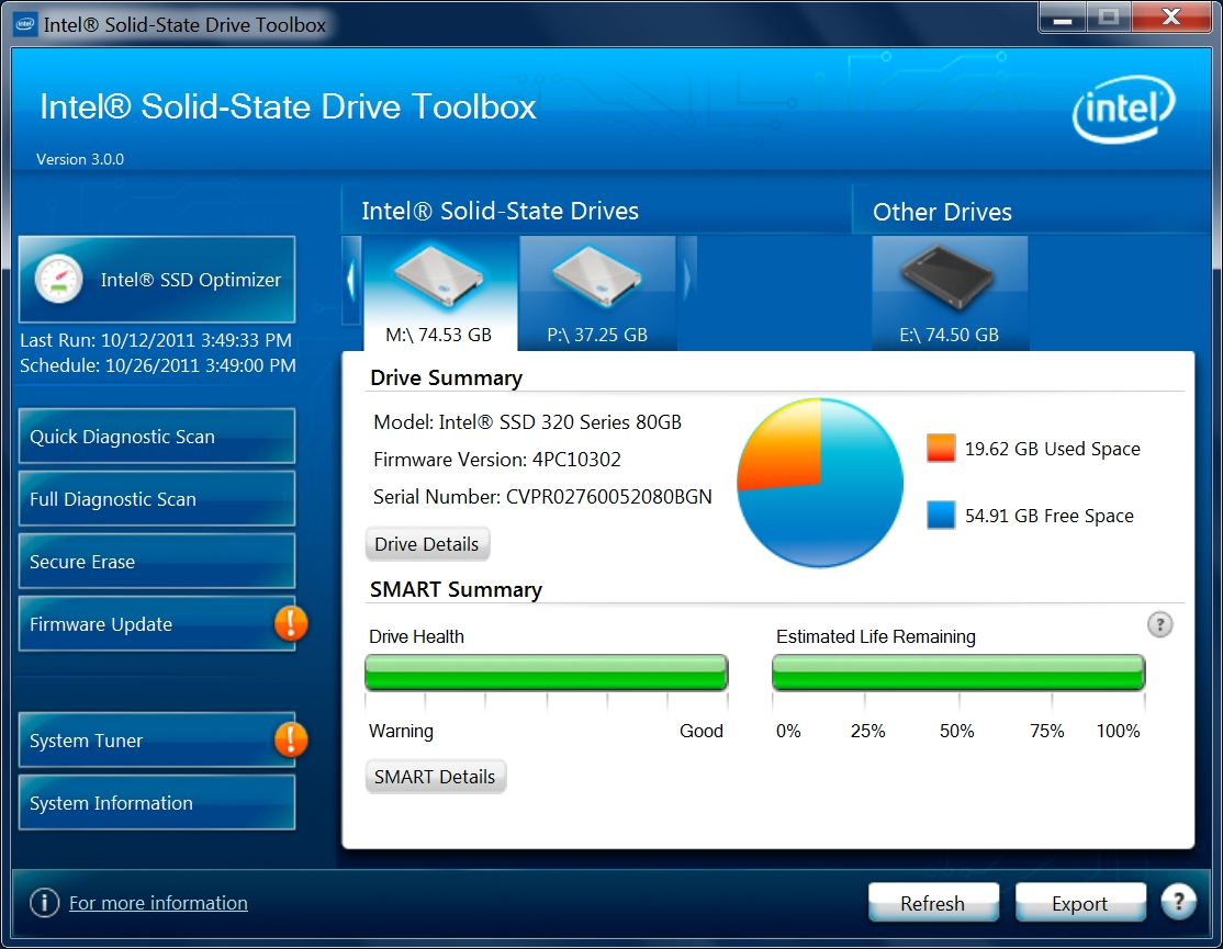 New Intel® Solid-State Drive Toolbox 3.0
