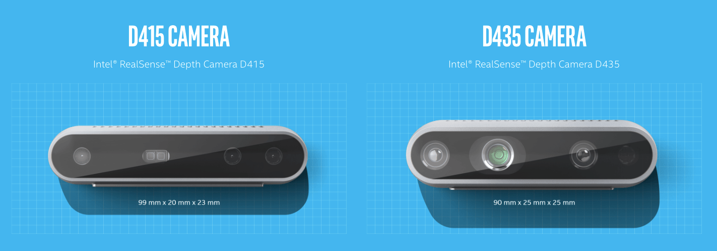 Compare D415 and D435 Cameras