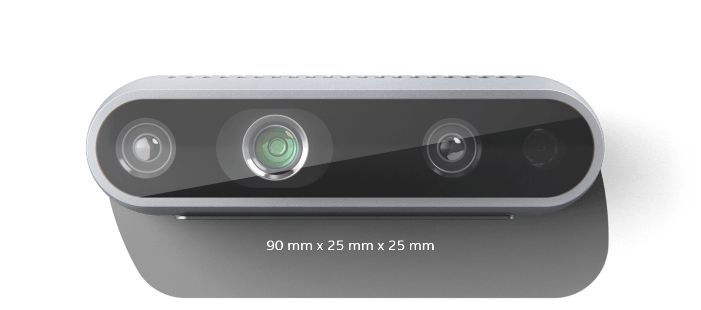 Active stereo depth camera D435 front
